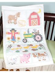 Prestamped Barn Quilt Crib Top