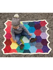 Polygon Blanket Knit Pattern