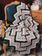 Diamond Zigzag Afghan Crochet Pattern