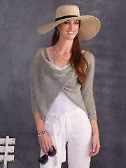Crisscross Meshy Top Knit Pattern