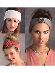 ANNIE'S SIGNATURE DESIGNS: Fanciful Headbands Knit Pattern Y886283