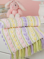 Tiny Tulips Baby Blanket Crochet Pattern
