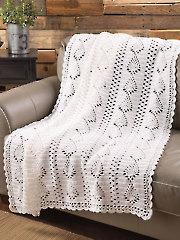 Pineapple Panels Throw Crochet Pattern
