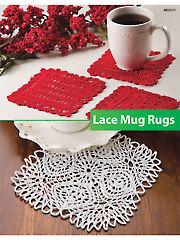 Lace Mug Rugs Knit Pattern - Electronic Download AK01077