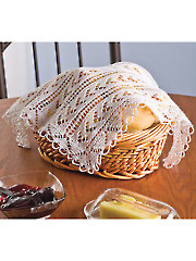 Lacy Bread Basket Cover Knit Pattern