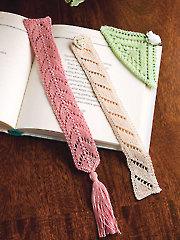 Lacy Bookmark Trio Knit Pattern - Electronic Download AK01080