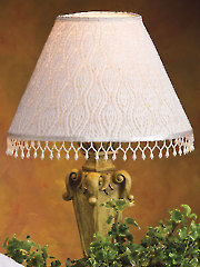 Beaded Lace Lampshade Knit Pattern - Electronic Download AK01083