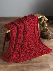 Autumn Blaze Knit Afghan