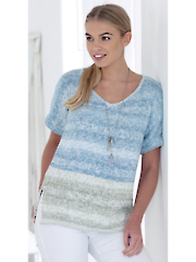 4767: Double Knit Ladies Tops Pattern