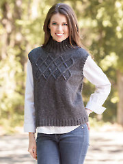 ANNIE'S SIGNATURE DESIGNS: Cabled Yoke Topper Knit Pattern
