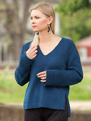 ANNIE'S SIGNATURE DESIGNS: Simple V-Neck Pullover Knit Pattern