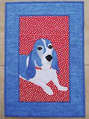 Blue Basset Quilt Pattern