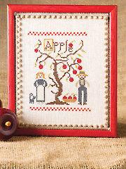 Amish Apple Sampler Cross Stitch Pattern