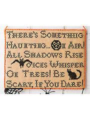 Halloween Advice Cross Stitch Pattern