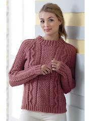 4816: Ladies Textured Sweater & Cardigan Knit Pattern