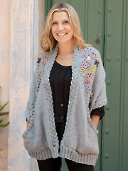 ANNIE'S SIGNATURE DESIGNS: Epic Embroidered Wrap Knit Pattern