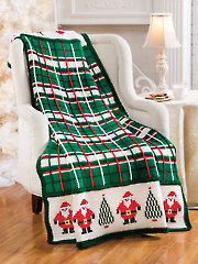 Santa Plaid Afghan - Electronic Download