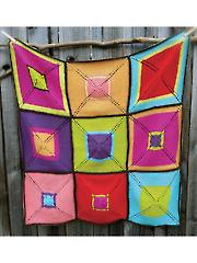 Americana 9 Patch Blanket Knit Pattern