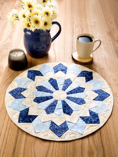 Dresden Plate Candle Mat Quilt Pattern