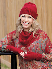 Simplicity Hat, Gloves & Scarf Crochet Pattern - Electronic Download AC03758