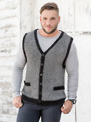 Classic Man's Vest Crochet Pattern - Electronic Download