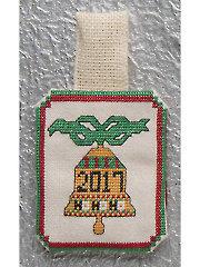 2017 Bell Ornament Cross Stitch Pattern