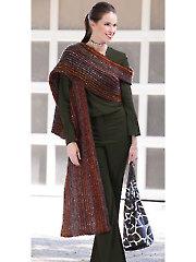 ANNIE'S SIGNATURE DESIGNS: Glamour Stole Crochet Pattern