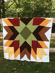 Autumn Glory Afghan Knit Pattern
