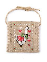Christmas Goose Ornament Cross Stitch Pattern
