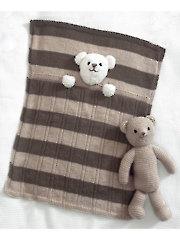 4005: Teddy Bear Blankets & Toy Knit Pattern