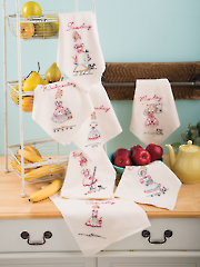 Chore Girls Embroidery Towel Pattern