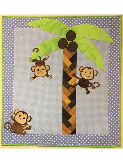 3 Little Monkeys Quilt Pattern