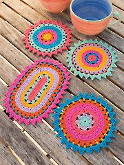 ANNIE'S SIGNATURE DESIGNS: Color Burst Coasters Crochet Pattern