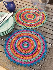 ANNIE'S SIGNATURE DESIGNS: Palmeras Place Mats Crochet Pattern