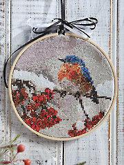 Winter Bluebird Cross Stitch Pattern