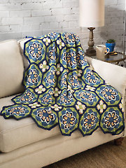 Blue Tiles Afghan - Electronic Download AC04014