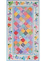 April Sweet Peas Table Runner Pattern