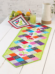 EXCLUSIVELY ANNIE'S QUILT DESIGNS: Flower Patch Table Runner Pattern