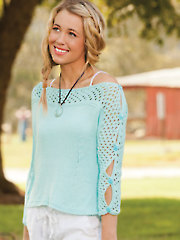 Button Sleeve Pullover Knit Pattern