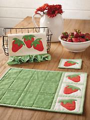 EXCLUSIVELY ANNIES QUILT DESIGNS: Strawberry Pickin' Kitchen Set Pattern