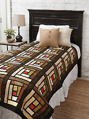 EXCLUSIVELY ANNIE'S QUILT DESIGNS: Stained Glass Logs Pattern