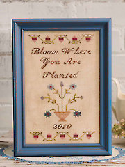 Bloom Where You Are Planted Cross Stitch Pattern