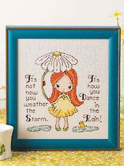 Dance in the Rain Cross Stitch Pattern