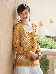 ANNIE'S SIGNATURE DESIGNS: Golden Mesh Cardigan Crochet Pattern