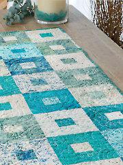Beach Glass Runner Quilt Pattern