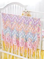 Baby Popcorns & Squares Crochet Pattern