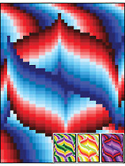 Bargello Style 03 Quilt Top