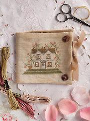 Rose Cottage Needlebook Cross Stitch Pattern