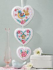Hearts on a String Cross Stitch Pattern