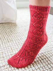Celtic Climbers Socks Knit Pattern